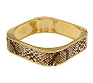 As Is Kenneth Jay Lanes Simulated Snake Skin Bangle Bracelet - J333103