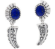 Fritz Casuse Sterling Silver Lapis Harvest Moon Earrings - J334003