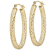 EternaGold Oval Basket Weave Tube Hoop Earrings, 14K Gold - J336303
