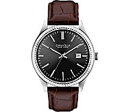 Caravelle New York Mens Brown Leather Band Watch - J336803
