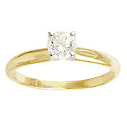 Diamond Solitaire Ring, 1/2cttw, 14K Yellow Gold, by Affinity - J339403