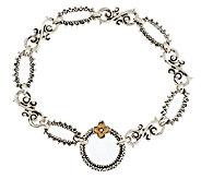 Barbara Bixby Sterling & 18K Textured Link Bracelet 8 - J339503