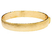 Arte dOro Large Satin Finish Bangle 18K Gold,16.10g - J341503