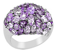 Sterling Amethyst Pave Domed Ring - J342703