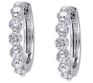 9/10 cttw Round Diamond Hoop Earrings, 14K - J343903