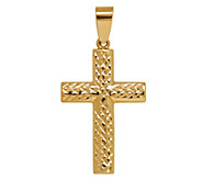 EternaGold Reversible Diamond Cut Cross Pendant, 14K Gold - J344703