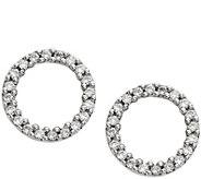 Dainty Designs 14K Diamond Accent Open Circle Earrings - J345303
