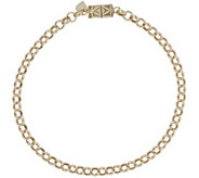Vicenza Gold 6-3/4 Rolo Bracelet with Click Secure 14K, 2.8g - J345603