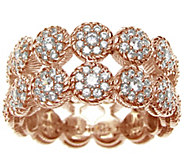 Judith Ripka 14K Rose Gold-Clad Double-Row Diamonique Ring - J345803