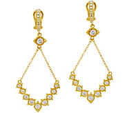 Judith Ripka Sterling/14K Clad Diamonique Swing Earrings - J346703