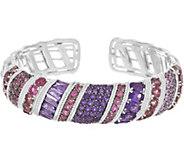 Judith Ripka Sterling 12.70 cttw Multi Gemstone Cuff Bracelet - J346803