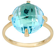Italian Gold Faceted Gemstone Ring, 14K Gold - J348903