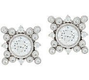 Judith Ripka Sterling Silver 3.35 cttw Diamonique Earrings - J349003