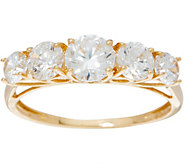 Diamonique Graduated Stone Band Ring, 14K Gold - J350003