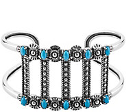 Sterling Silver Bold Turquoise Cuff Bracelet byAmerican West - J375503