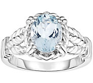 Sterling 1.50 ct Oval Aquamarine Ring - J375803