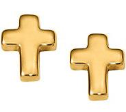 14K Petite Cross Post Earrings - J376303