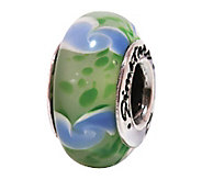 Prerogatives Sterling Green and Blue Glass Bead - J108804