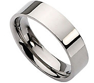 Titanium Flat 6mm Polished Ring - Unisex - J110004