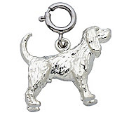 Sterling Cocker Spaniel Dog Charm - J110104