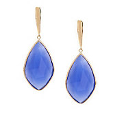Colors of Chalcedony Elongated Design Earrings 14K Gold - J270604