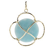 As Is VicenzaGold Faceted Gemstone Swirl Pendant, 14K - J276904
