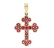Premier 1.00 ct tw Rubellite Cross Enhancer 14K - J277204