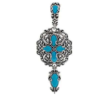 Carolyn pollack sleeping beauty turquoise sterling for Carolyn pollack jewelry qvc