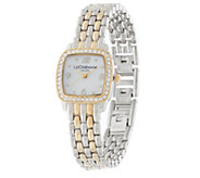 Liz Claiborne New York Panther Link Mother of Pearl Bracelet Watch - J279804