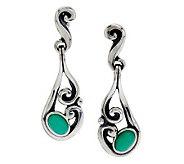 Carolyn Pollack Sterling Chrysoprase Dangle Earrings - J279904