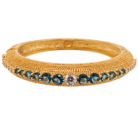 Jacqueline Kennedy Simulated Sapphire Bold Bangle