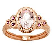 Adi Paz .70ct Morganite & Pink Sapphire Accent Ring, 14K Gold - J287204