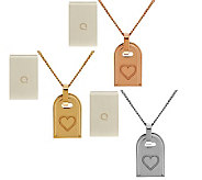 Bronzo Italia Polished Symbol Tag Necklace - J288604