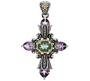 Barbara Bixby Sterling & 18K Multi-Gemstone Cross Enhancer - J289604