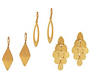 Joan Rivers Set of 3 Drop Earring Wardrobe - J296904