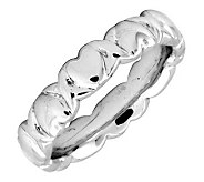 Simply Stacks Sterling 4.25mm Heart Ring - J298104