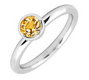 Simply Stacks Sterling 5mm Round Citrine Solitaire Ring - J298804