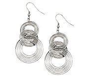 Stainless Steel Multi-Circle Dangle Earrings - J308304