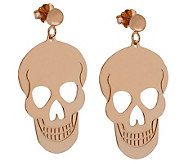 Bronzo Italia Polished Skull Dangle Earrings - J313804