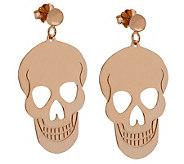 Bronzo Italia Polished Skull Dangle Earrings - J313804