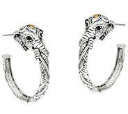 JAI Sterling & 14K Elephant Hoop Earrings - J320804