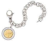 Bronze 500 Lire Coin Oval Rolo Link Bracelet by Bronzo Italia - J321204