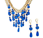 Linea by Louis DellOlio Bead Drop Necklace & Earrings Set - J321804