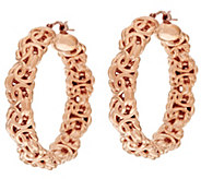 As Is Oro Nuovo 1-1/2 Polished Byzantine Hoop Earrings, 14K - J322204