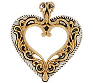 Sterling Silver and Brass Filigree Heart Enhancer by American West - J324004