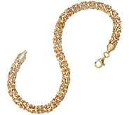 14K Gold 7-1/4 Classic Polished Byzantine Bracelet, 3.9g - J324204