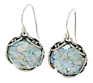 Sterling Silver Roman Glass Lace Earrings by Or Paz - J324404