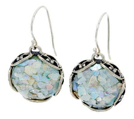 sterling silver glass lace earrings by or paz