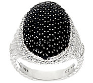 Judith Ripka Sterling Pave Black Spinel 1.80 cttw Ring - J325604