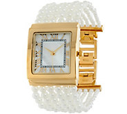 As Is Joan Rivers Ladies who Lunch Simulated Pearl Watch - J331404